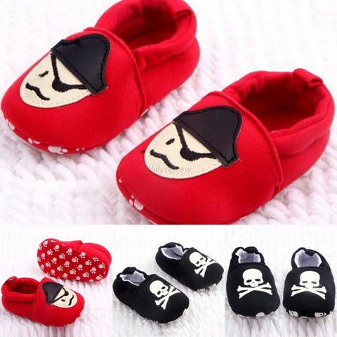 0-12M Toddler Baby Girls Boys Skull Pirate Printed Casual Shoes Soft Sole First Walkers Free Shipping L4 - Alternative Measures