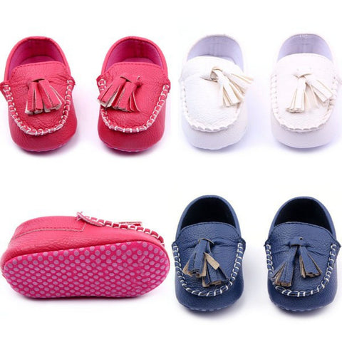 0-12M New Toddler Baby Girls Boys Leather Crib Shoes Peas Shoes Soft Sole Free Shipping L4 - Alternative Measures