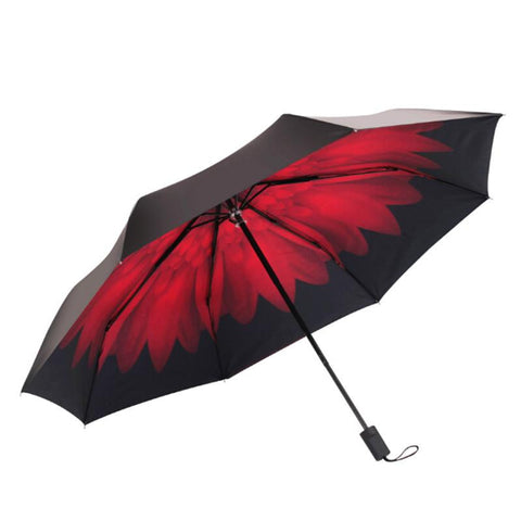 190T New Excellent Sun Umbrella Women Lace Umbrella Anti UV Travel Windproof Paraguas Black Coating Colors Daisy Print Umbrellas - Alternative Measures