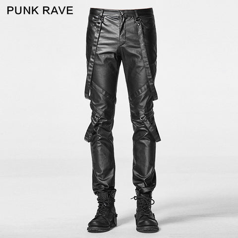 2016 New fashion tide Punk rave gothic street fashion punk rock gothic male non-mainstream trousers nightclub singer costumes - Alternative Measures