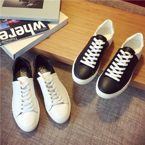 2016 New Men genuine leather Shoes Fashion White Shoes Men Casual Flats color matching Shoes - Alternative Measures