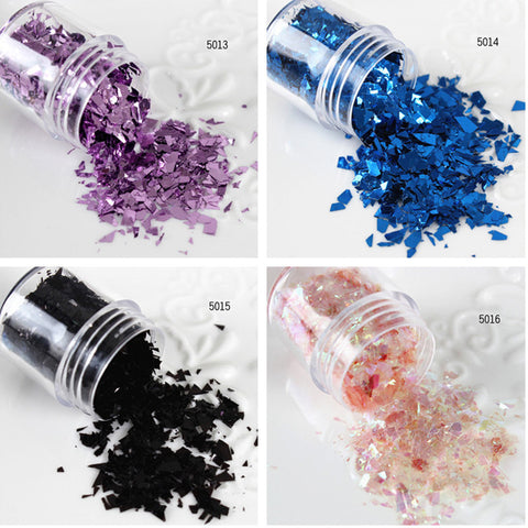 10ml/Box Nail Sequins Purple Pink Blue Black Glitter Tips Manicure Nail Decoration 5013-5016 - Alternative Measures