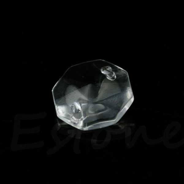 100 pcs 14mm Clear Crystal Rhinestone Octagonal Bead Decoration Lamps Curtain - Alternative Measures
