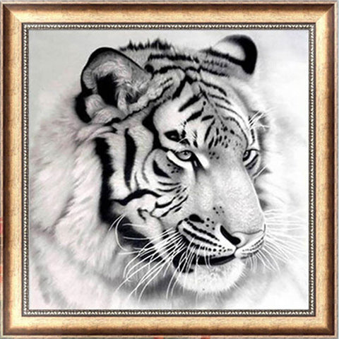 DIY 5D Embroidery Painting Cross Stitch Needlework Tiger Mosaic Home Decor 30*30cm - Alternative Measures