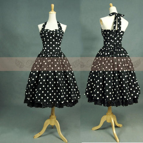 2015 New Lace Summer Women Cotton Casual Retro Vintage 50s Rockabilly Swing Pinup Floral Print Polka Dot Dance Dresses - Alternative Measures