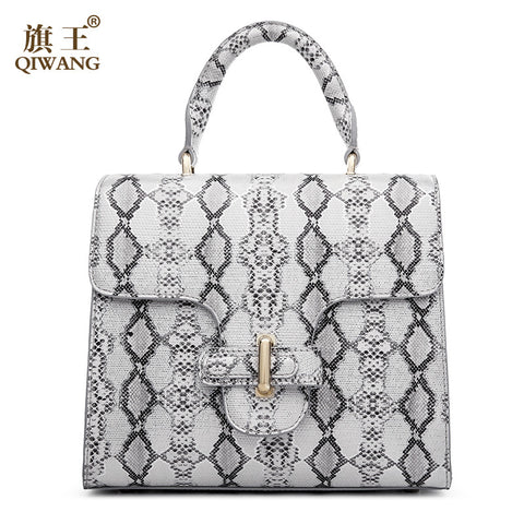 Qiwang  Women Python Bag Cow Snake Skin Cowhide Leather Tote Bag Wholesale Summer Cross Handbag Luxury Brand Designer Bag - Alternative Measures