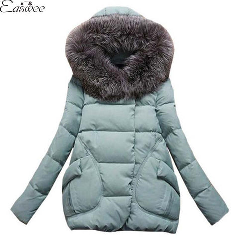 1PC 2016 Winter Jacket Women Fur Hood Cotton Padded Coat Parkas For Women Winter Abrigos Mujer Jaqueta Feminina HL8028 - Alternative Measures