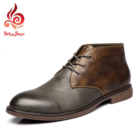 2015 Men Shoes Full Grain Leather Winter Boots Men Super Warm Shoes Men Fashion Male Ankle Boots Plus Size:38-45 A9009 - Alternative Measures