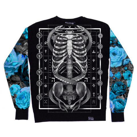 2015 Design Black Skeleton Harajuku Cute Fashion Sweatshirt Women Hoodies Spring Autumn Pullover Streetwear Free Shipping F97 - Alternative Measures