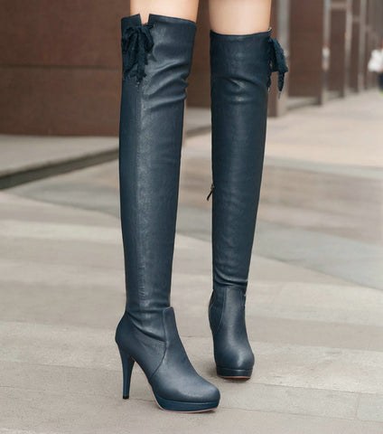2014 spring and autumn winter woman sexy boots high leg boots, over the knee boots stiletto platform - Alternative Measures