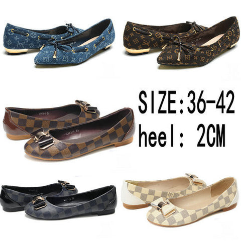 5Colors Big Size New Flats Lovely Bowknot PU Leather Women Flats Shoes Leisure Ballet Flats For Women Alternative Measures - Alternative Measures