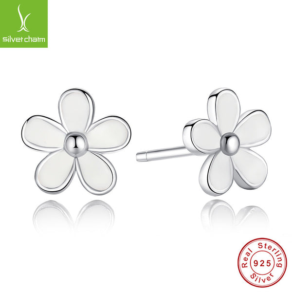 100% 925 Sterling Silver Darling Daisies Stud Earrings For Women Compatible with Pandora Jewelry Authentic Fashion Gift ALX-SCJS ALX-SCJS - Alternative Measures