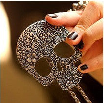 New 4010 fashion accessories punned skull necklace vintage gothic necklace Jewelry 32g Alternative Measures - Alternative Measures -