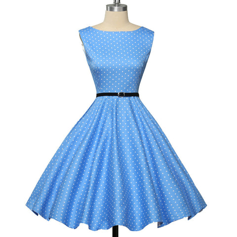 1950's Prom Dresses 2016 Knee Length Flora Print Vintage Rockabilly Party Dresses 20 Style Short White Blue Red Black Prom Dress - BRIDESMAID DRESSES BRIDAL GOWNS PROM - Alternative Measures