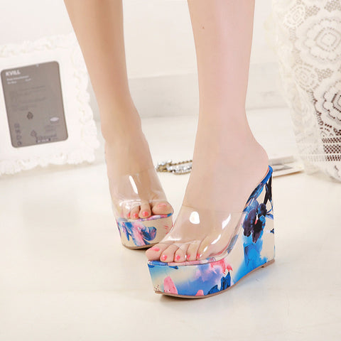 2014 high quality women sandals plastic flower jelly slippers 34 - 39 - Alternative Measures