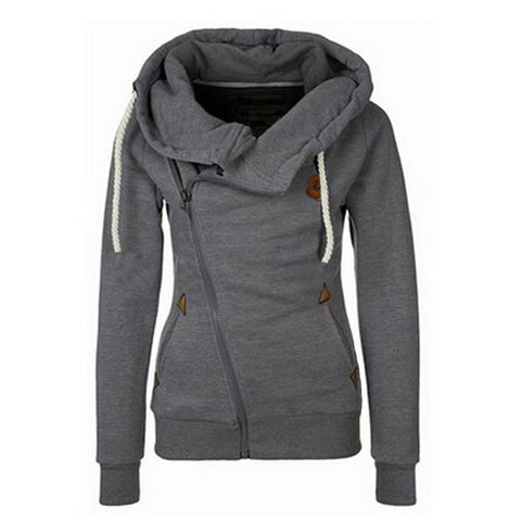 2015 Fashion New European Personality Women Hoodies Sports Suit Side Zipper Hooded Sweashirt Women Jacket Big Size XL Tracksuits - Alternative Measures