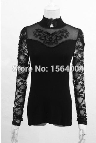 Gothic Gorgeous Sexy Tee shirt Victorian Style Top Brand quality Punk Rave - Alternative Measures