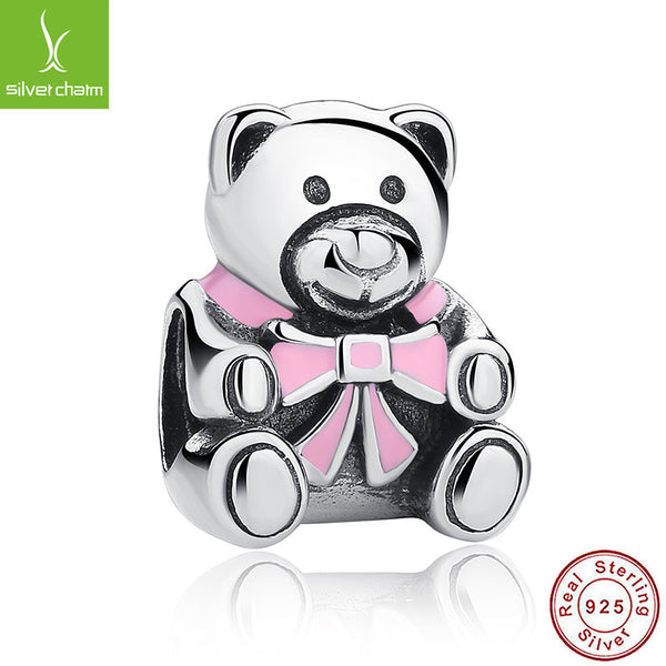 100% 925 Sterling Silver Girl Teddy Bear Charm Fit Original Pandora Bracelet Necklace Authentic Jewelry Gift ALX-SCJS ALX-SCJS - Alternative Measures