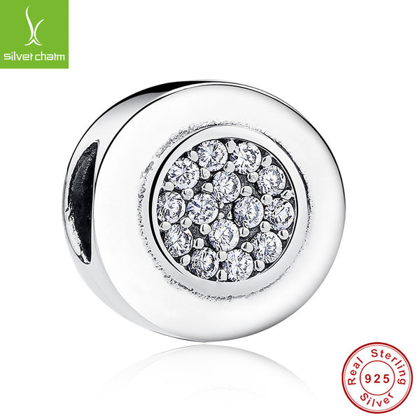 100% 925 Sterling Silver Round Charm Clear CZ Fit Original Pandora Bracelet Pendant Authentic Jewelry Christmas Gift ALX-SCJS ALX-SCJS - Alternative Measures