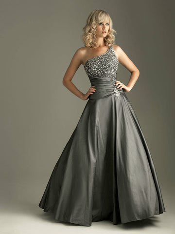 BEST SELLER SAO Tome y One-shoulderGrey bridesmaid dress with beads dresses under $50 party dress WBH03 Alternative Measures - Brides & Bridesmaids - Wedding, Bridal, Prom, Formal Gown - Alternative Measures
