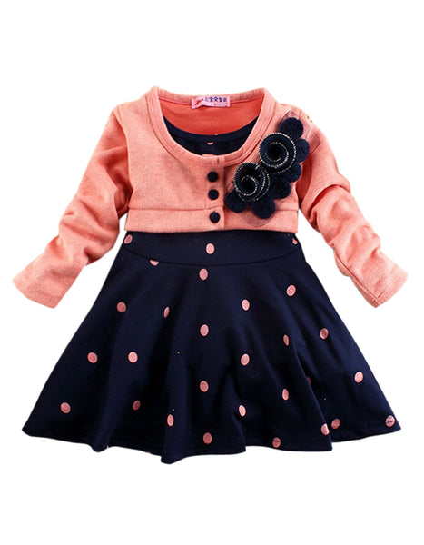 1-6 Years Baby Girl Dress Children Clothes Baby Princess Dresses Flower Long Sleeve Polka Dots Mini Dress 67 Alternative Measures - Brides & Bridesmaids - Wedding, Bridal, Prom, Formal Gown - Alternative Measures