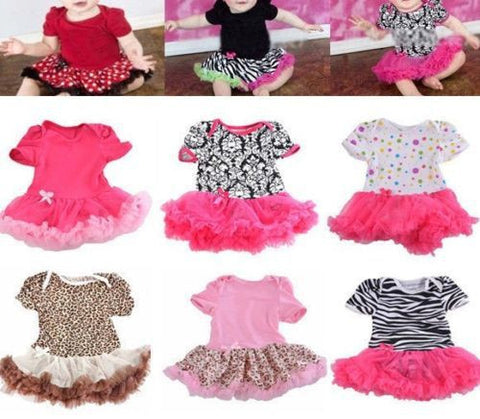 0-12M Lovely Baby Toddler Girls Ruffles Tutu Dress Romper One-Piece Outfit Dresses Clothes + Headband Freeshipping Alternative Measures - Brides & Bridesmaids - Wedding, Bridal, Prom, Formal Gown - Alternative Measures