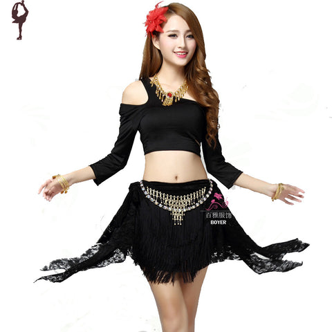 2014 new belly dance costume 4piece(top+waist chain+pants+socks) indian dance costumes white/green/black/red dance bellydance - Alternative Measures