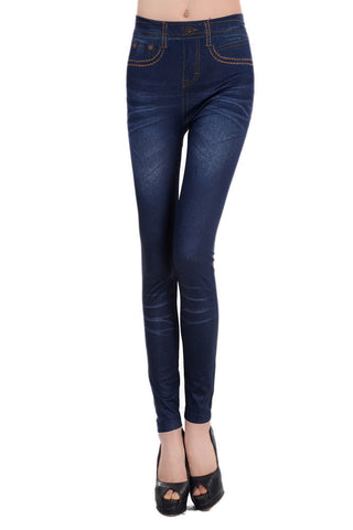 2014 new     women casual  pants  Imitate Cowboy Legging Blue  LC79239  jeggings jeans for woman fitness legging - Alternative Measures