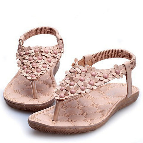 2014 New Arriving Flats Sandals Flower Beading Women Flip Flop Wholesale Lady Shoes F128 - Alternative Measures