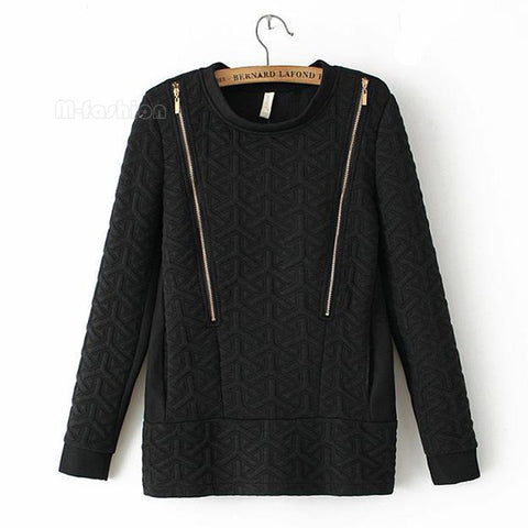 2014 Women Hoody Spring Autumn Long Sleeve Casual Sweatshirts Women Solid Warm Hoodies With Zipper 50 - Alternative Measures