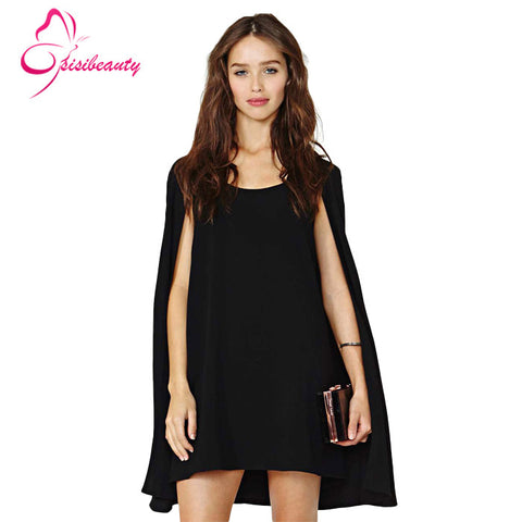 2015 Summer Style Girls Dress Sleeveless A-line Cloak Style Black & White Casual Chiffon Dresses 4 - Alternative Measures