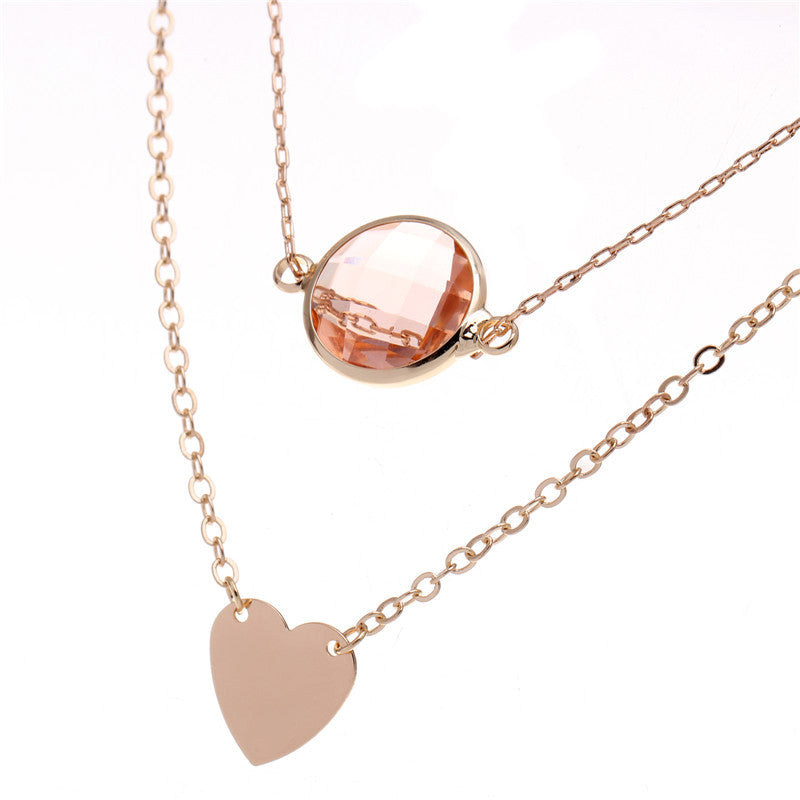 jewellery product fashion wholesale shipping latest necklace design drop crystal simple zircon silver nl sale jewelry hot pendant plated gold inlay