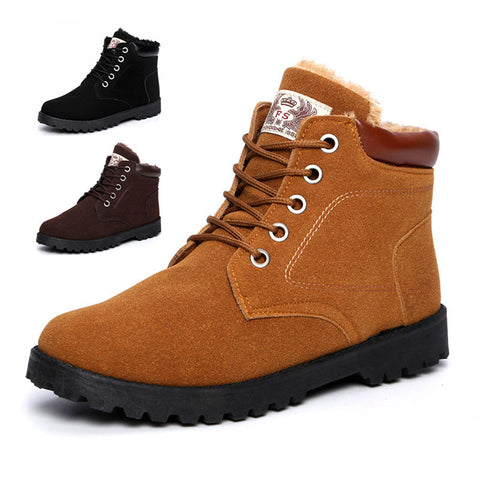 2015 Fashion Men Boots Winter Leather Anlke Boots Flat Men Winter Shoes Lace Up Shoes For Men - Alternative Measures