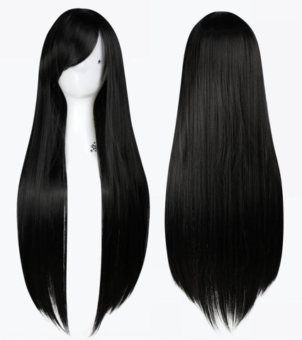 "!Wigs Costumes 1 Pcs 32""/80cm Heat Resistant Bang Long straight Wigs Cosplay Anime Alternative Measures - Alternative Measures"