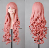 "1 Pcs 32""/80cm Heat Resistant Bang Long Wavy Curly Wigs, Cosplay Anime Wig, Party wig Alternative Measures - Alternative Measures"