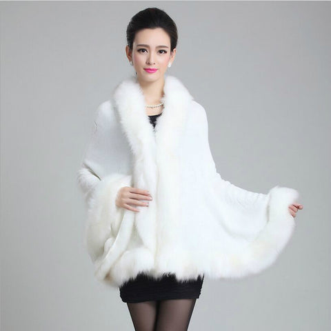 2014 new fall mink fur shawl fox fur cape knitted cardigan coat women 8 color - Alternative Measures