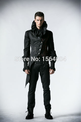Gothic Mens Women Punk Rave Visual Kei Vest Rock fashion clothing vampire Jacket Alternative Measures - Alternative Measures