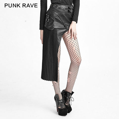 2015 Punk rave Retro Party Goth Visual Kei Womens Fashion Black Sexy TIGHT Skirt Q274 S-XXL - Alternative Measures