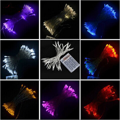 3M 30 LED Battery Operated LED String Lights Event Lightings for Xmas Garland Party Wedding Decoration Christmas Flasher Fairy Lights Alternative Measures - Alternative Measures