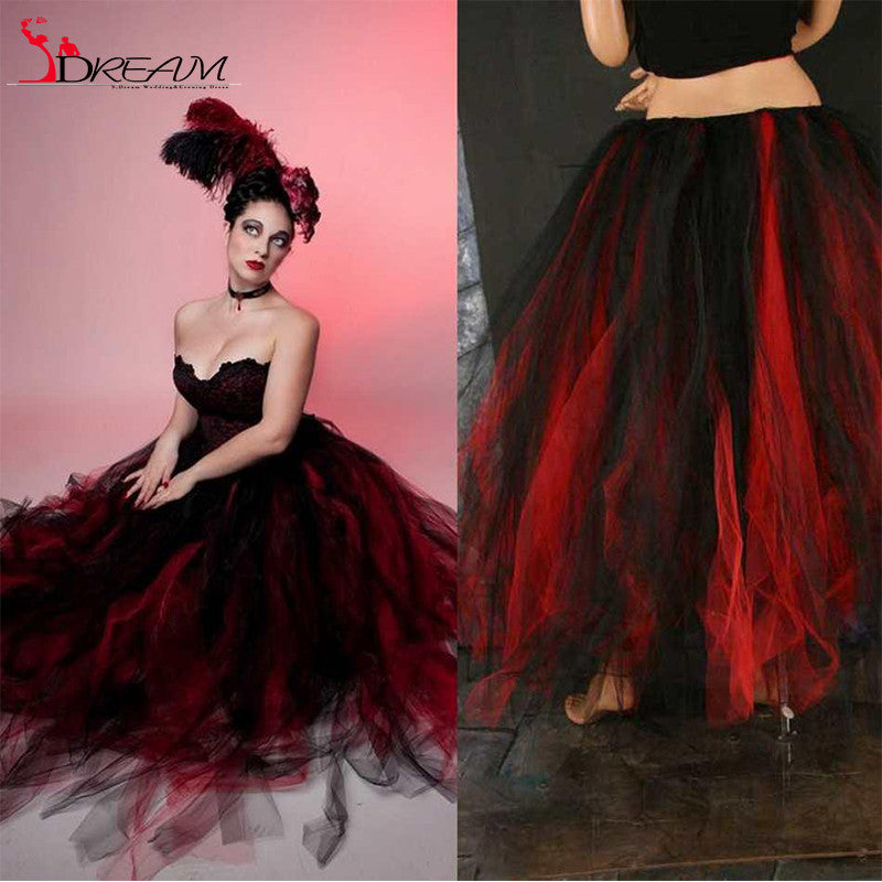 Scary Red and Black Short Cocktail Dresses
