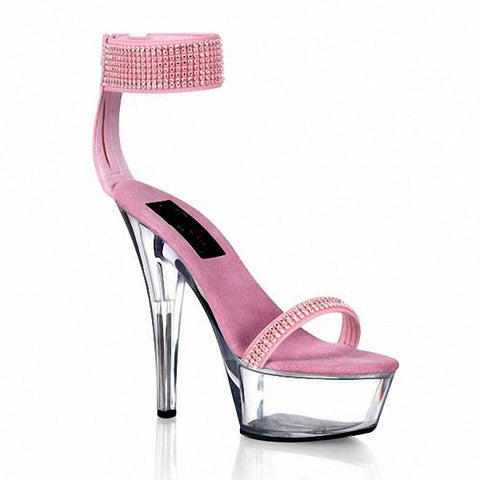 15 cm high with pink glass slipper Thick bottom waterproof princess sandals model star shoes - Alternative Measures