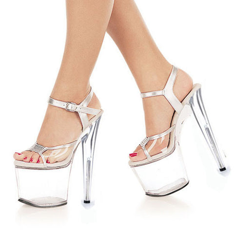 c469f48169a 8 Inch clear Shoes Sexy Stripper Shoes 2016 Sexy 20cm Temptation Crystal  sandals Platform Ultra High Thin Heels