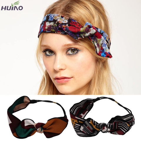 12colors in Stock Different Patterns Korean Design Floral Bow Hair Ribbon Scarf  Hair bands Hair Accessories For Girls - Alternative Measures