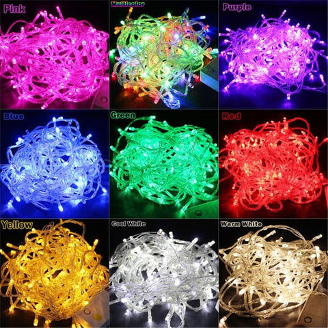 220V EU 10m/100leds led String Lights Event Lighting for Holiday Wedding Christmas, decoration for Party garland lighting led lights outdoor B26 Alternative Measures - Alternative Measures