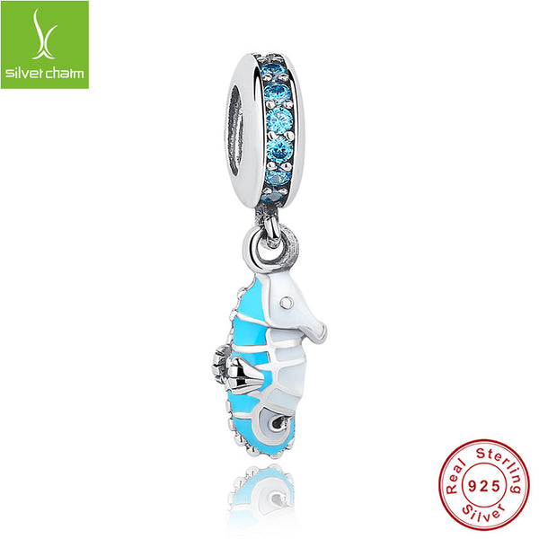 100% 925 Sterling Silver Tropical Seahorse Charm Bead Fit Original Pandora Bracelet Authentic DIY Jewelry ALX-SCJS ALX-SCJS - Alternative Measures