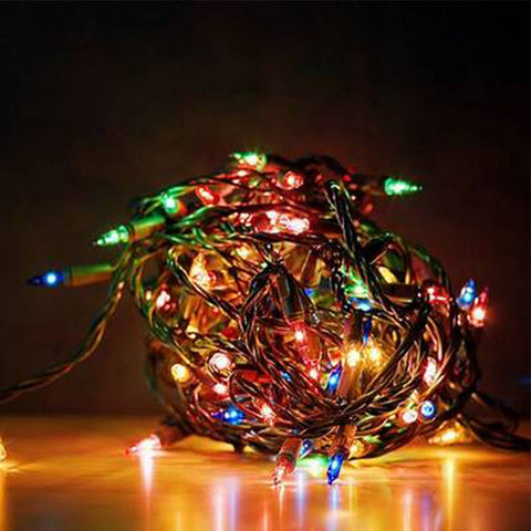 100 LED String Fairy Lights for Xmas Party Wedding 6 Modes Multi-color #74329 Alternative Measures - Alternative Measures