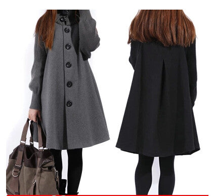 2014 autumn and winter women cloak women outerwear wool coat long cloak wool coat maternity clothing - Alternative Measures
