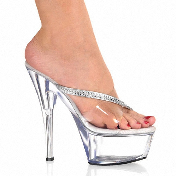 15 Sexy High-Heeled Shoes Crystal Sandals Sweet Rhinestone Sexy Shoes Bride Wedding Shoes 6 Ihch Heels Platform Stripper Shoes - Alternative Measures