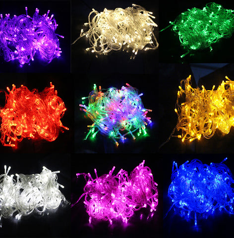 10M Waterproof 110V/220V 100 LED holiday String Lights Event Lightings for Christmas Festival Party Fairy Colorful Xmas LED String Lights Event Lightings Alternative Measures - Alternative Measures