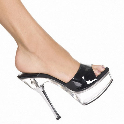 14cm Sandals Heel Summer Dress Shoes Woman Chain Open Toe Shoes Woman 5 Inch High Heeled Evening Sandals High Heels Slippers - Alternative Measures